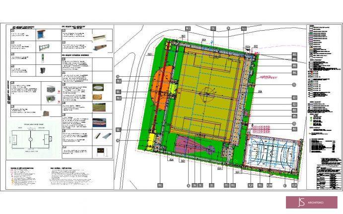 projekt boisk sportowych