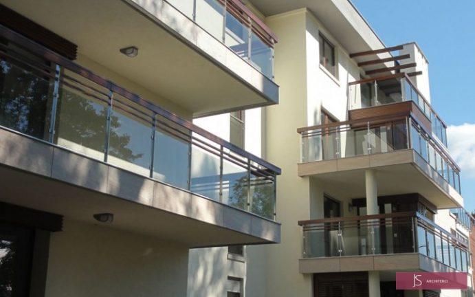 apartamentowiec balkony