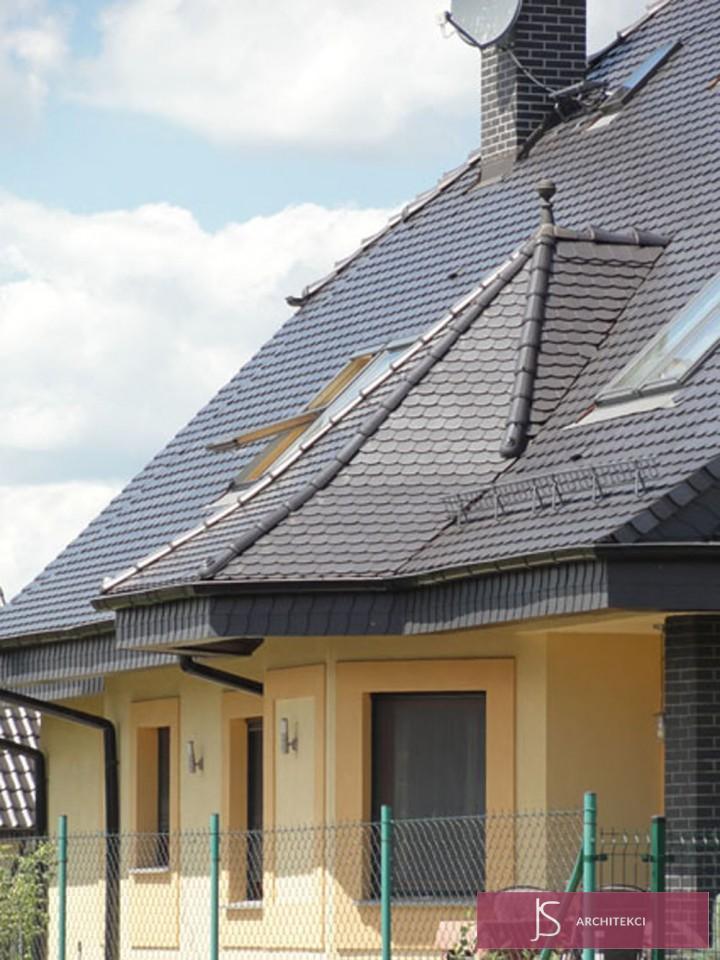 projekt rezydencji - dach