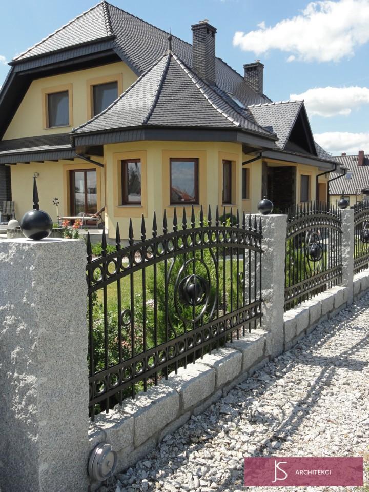 projekt rezydencji - ogrodzenie