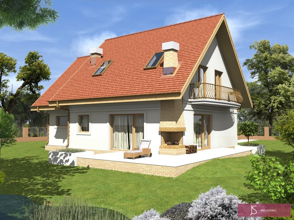 wizualizacja domu stokrotka