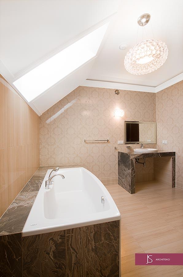 projekt rezydencji - łazienka