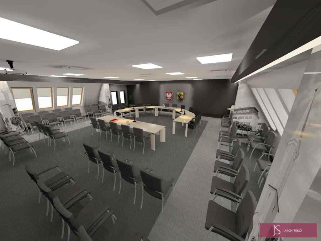 projekt ratuszu w Ściniawie